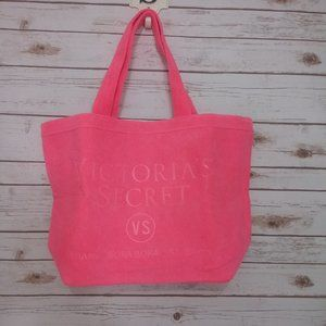 Victoria Secret Pink Terry Cloth Tote NEW